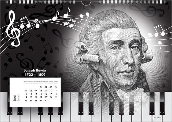 Der Komponisten-Kalender 38 im Juni.