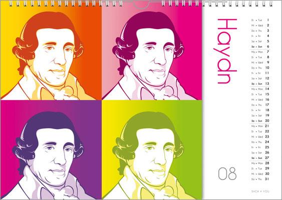 Der Komponisten-Kalender 39 im August.