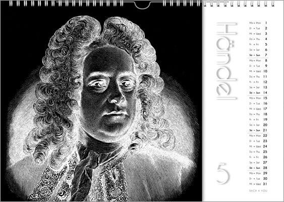 Musik-Geschenk Komponisten-Kalender 50 im April.