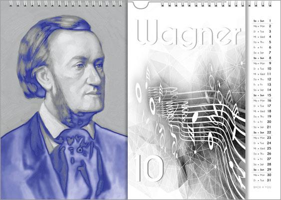 Musik-Geschenk Komponisten-Kalender 57 im September.