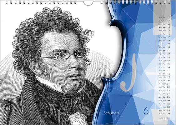 Der Komponisten-Kalender 49 im Juni.