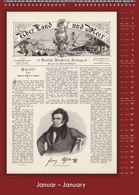 Der Komponisten-Kalender 34 im Januar.