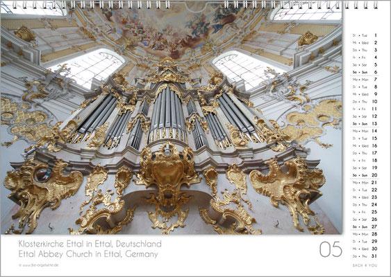 Der Mai im Orgelkalender 2018.