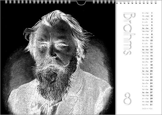 Musik-Geschenk Komponisten-Kalender 50 im Juli.