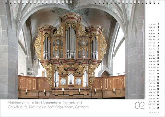 Musik-Geschenk Orgel-Kalender; Februar