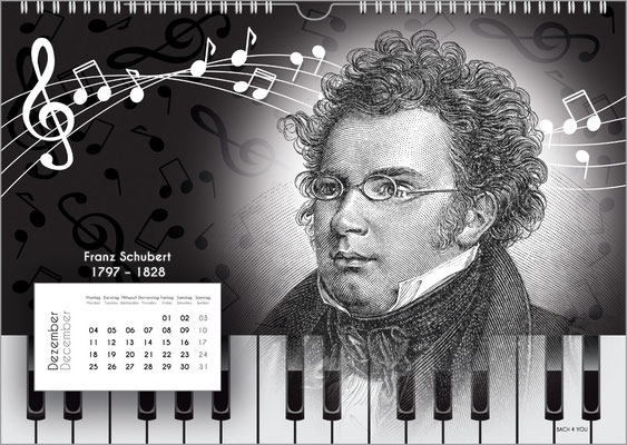 Der Komponisten-Kalender 38 im Dezember.