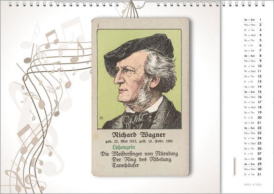 Musik-Geschenk Komponisten-Kalender 66 im Januar.