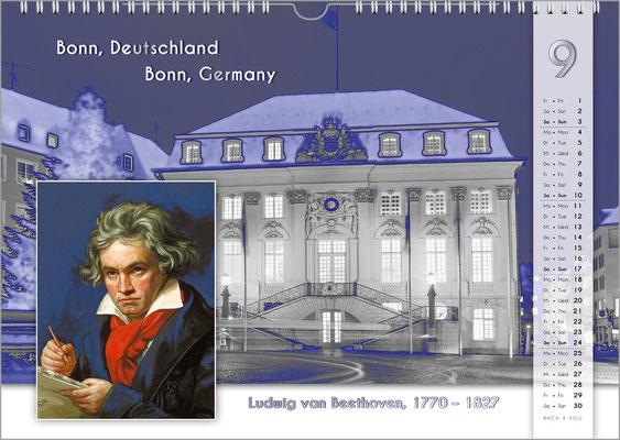 Musik-Geschenk Komponisten-Kalender 55 im September.