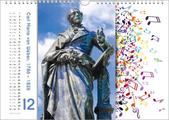 Musik-Geschenk Komponisten-Kalender 65 im Dezember.