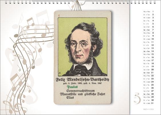 Musik-Geschenk Komponisten-Kalender 66 im Mai.