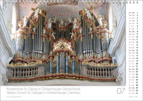 Der Juli im Orgelkalender 2018.