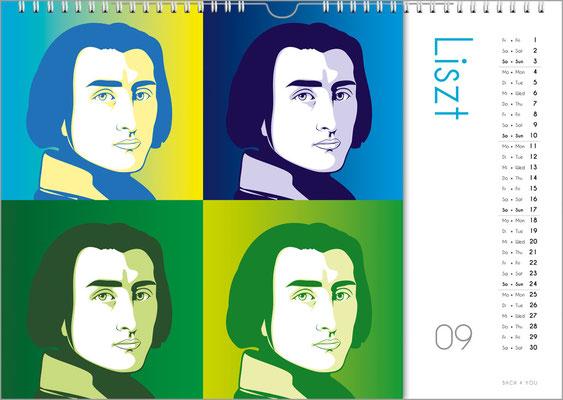 Der Komponisten-Kalender 39 im September.