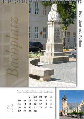 Musik-Geschenk Bach-Kalender 67 im Juni.