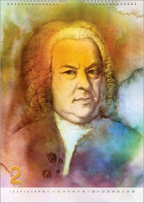 Musik-Geschenk Bach-Kalender 68 im Februar.