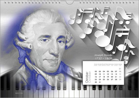 Musik-Geschenk Komponisten-Kalender 52 im Oktober.