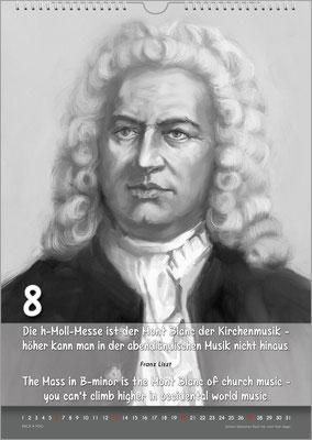 Musik-Geschenk Musik-Kalender / Bach-Kalender.