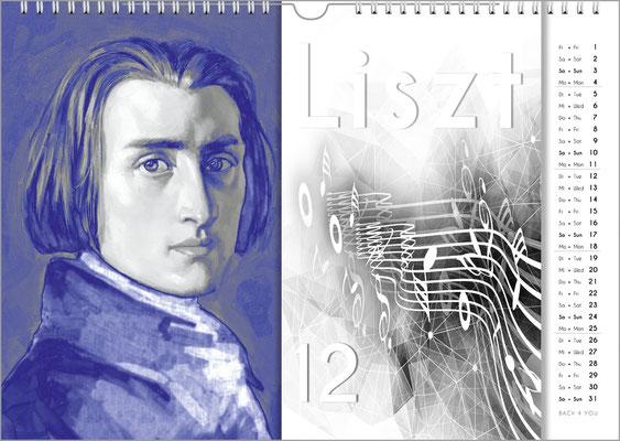 Musik-Geschenk Komponisten-Kalender 57 im Dezember.
