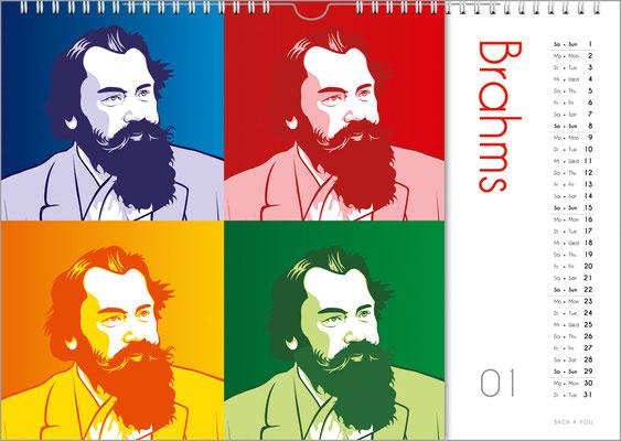 Der Komponisten-Kalender 39 im Januar.