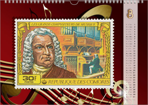 Musik-Geschenk Musik-Kalender / Bach-Kalender 2019.