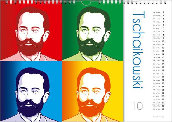 Der Komponisten-Kalender 39 im Oktober.