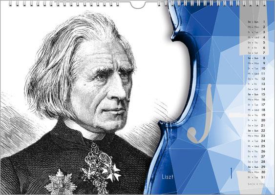 Der Komponisten-Kalender 49 im Januar.