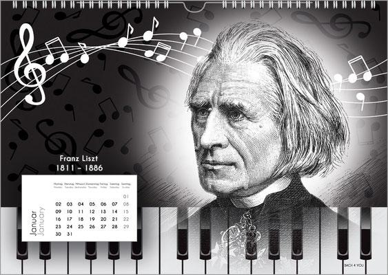 Der Komponisten-Kalender 38 im Januar.