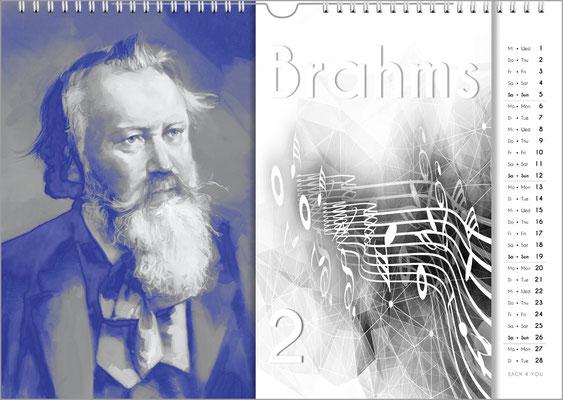 Musik-Geschenk Komponisten-Kalender 57 im Januar.