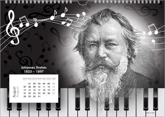 Der Komponisten-Kalender 38 im August.