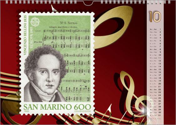 Der Komponisten-Kalender 48 im Oktober.