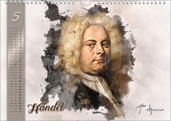 Musik-Geschenk Komponisten-Kalender 61 im Mai.