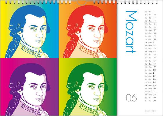 Der Komponisten-Kalender 39 im Juni.