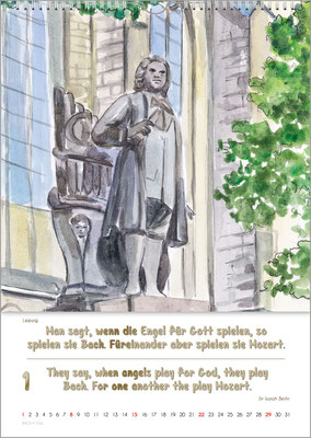 Musik-Geschenk Bach-Kalender 70 im Januar.
