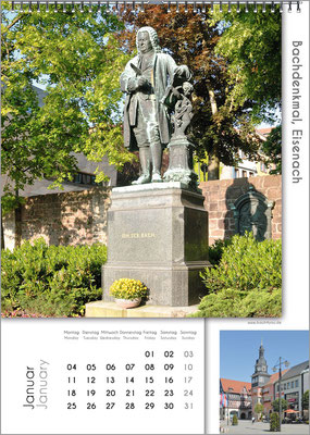 Musik-Geschenk Bach-Kalender 67 im Januar.