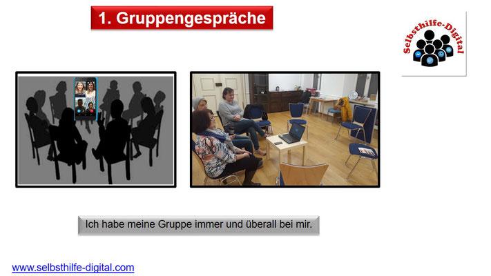 7. Gruppengespräche face to face inkl. Videokonferenz