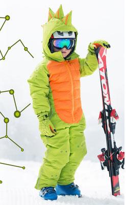 FlashyStars Schneeanzug Kinder Dino