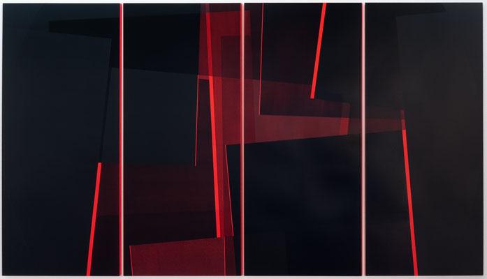 roter kreis x   180x326x4 cm  acryl auf hartfaser   2010