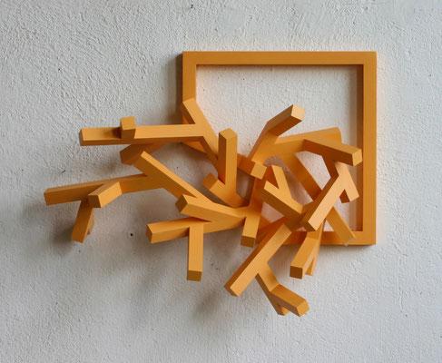 vera-stellung holzkonstruktion acrylfarbe
