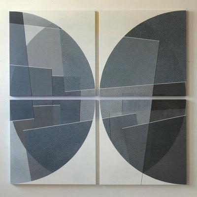 8viertel 123x123cm  acryl auf hartfaser 2016