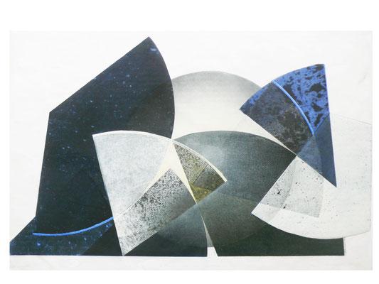 8teile + 1ganzes  70x100cm farbholzdruck 2016