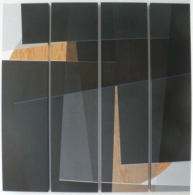 noch o.t. 4teilig 180x190cm acryl auf hartfaser 2014