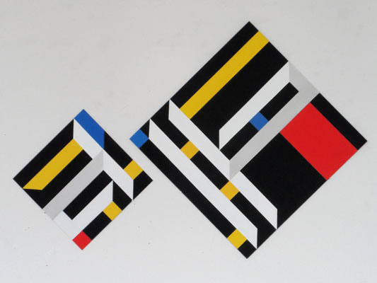 untitled.complex  VIII (2teilig)  30x30+50x50cm acryl auf mdf 2017