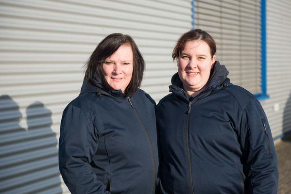 Geschäftsführerin Andrea Müller (l.) mit Ann-Kathrin Müller, ppa, tätig in der Glas- und Gebäudereinigung