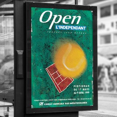 Affiche Open de Tennis de L'indépendant