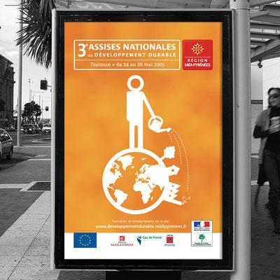 Affiche  Assises Nationales du Développement Durable - Conseil Régional