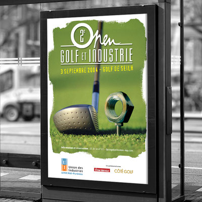 Affiche Golf & Industrie - UIMM