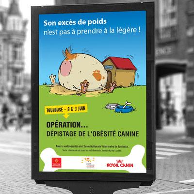 Affiche Dépistage de l'obésité canine - Royal Canin