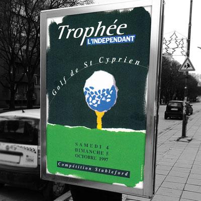 Affiche Trophée du Golf de L'indépendant