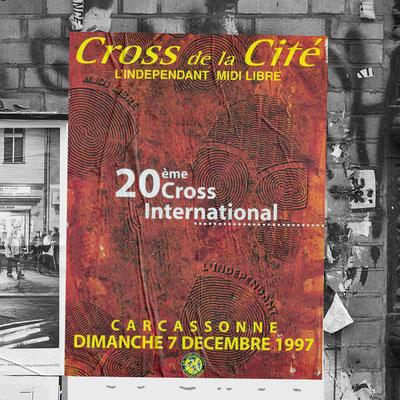 Affiche Cross de la Cité de Carcassonne - L'indépendant/Midi Libre