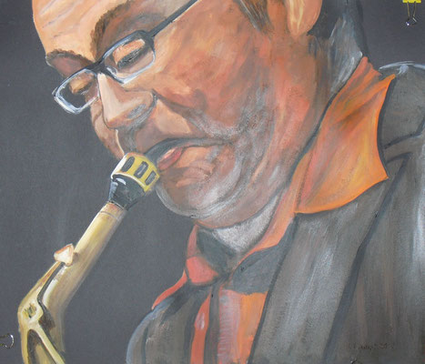 Saxophon (40x50 cm)