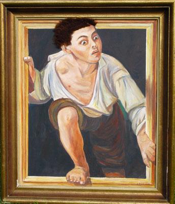 Pere Borrell del Caso : Auf der Flucht (60x50 cm)